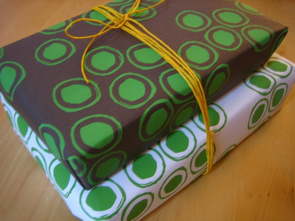 silkscreened wrapping paper rifferaff