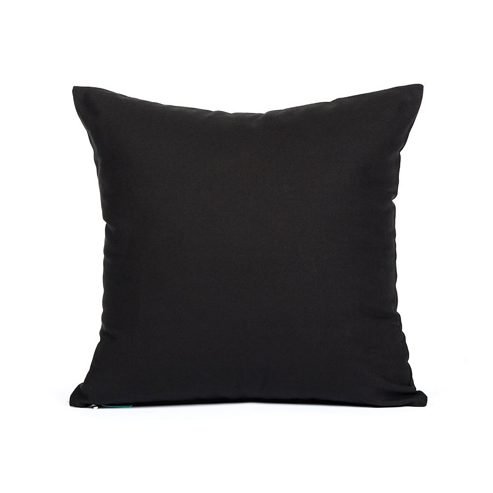 Solid Black Throw Pillows : 16 X 16 Solid Black Throw Pillow Cover by BHDecor on Etsy