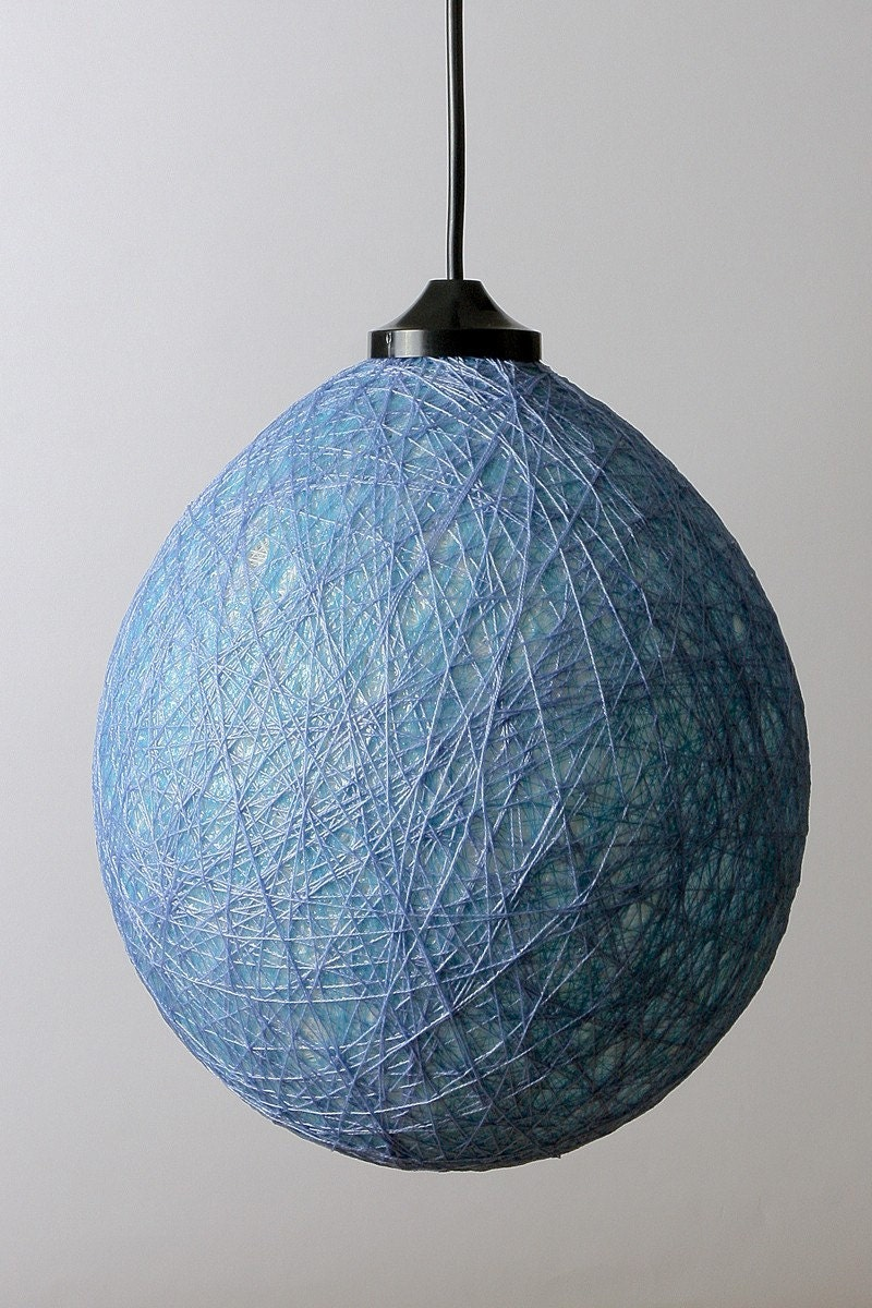 Bubble lampshade Ceiling lamp Light blue by FiligreeCreations from etsy.com