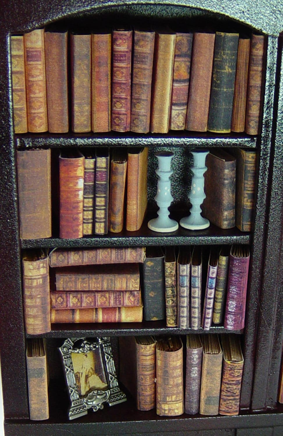 Dolls House Miniature Filled Old Bookcase EBay - Old book case