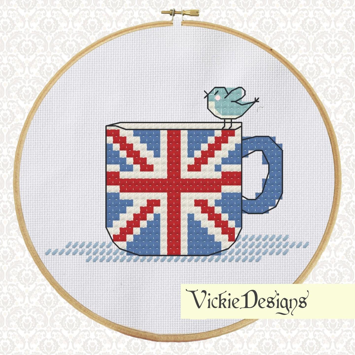 Английский флаг вышивка 23