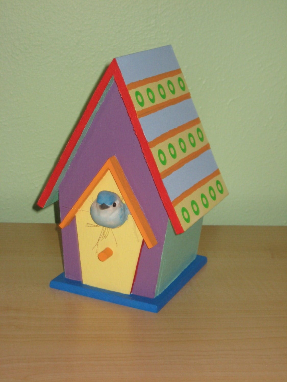 Popular items for wooden bird house on etsy for Funky nursery ideas