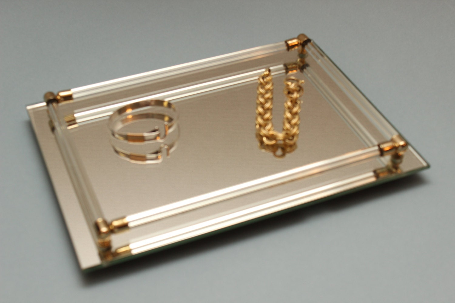 Etsy your place to buy and sell all things handmade for Mirrored bathroom tray