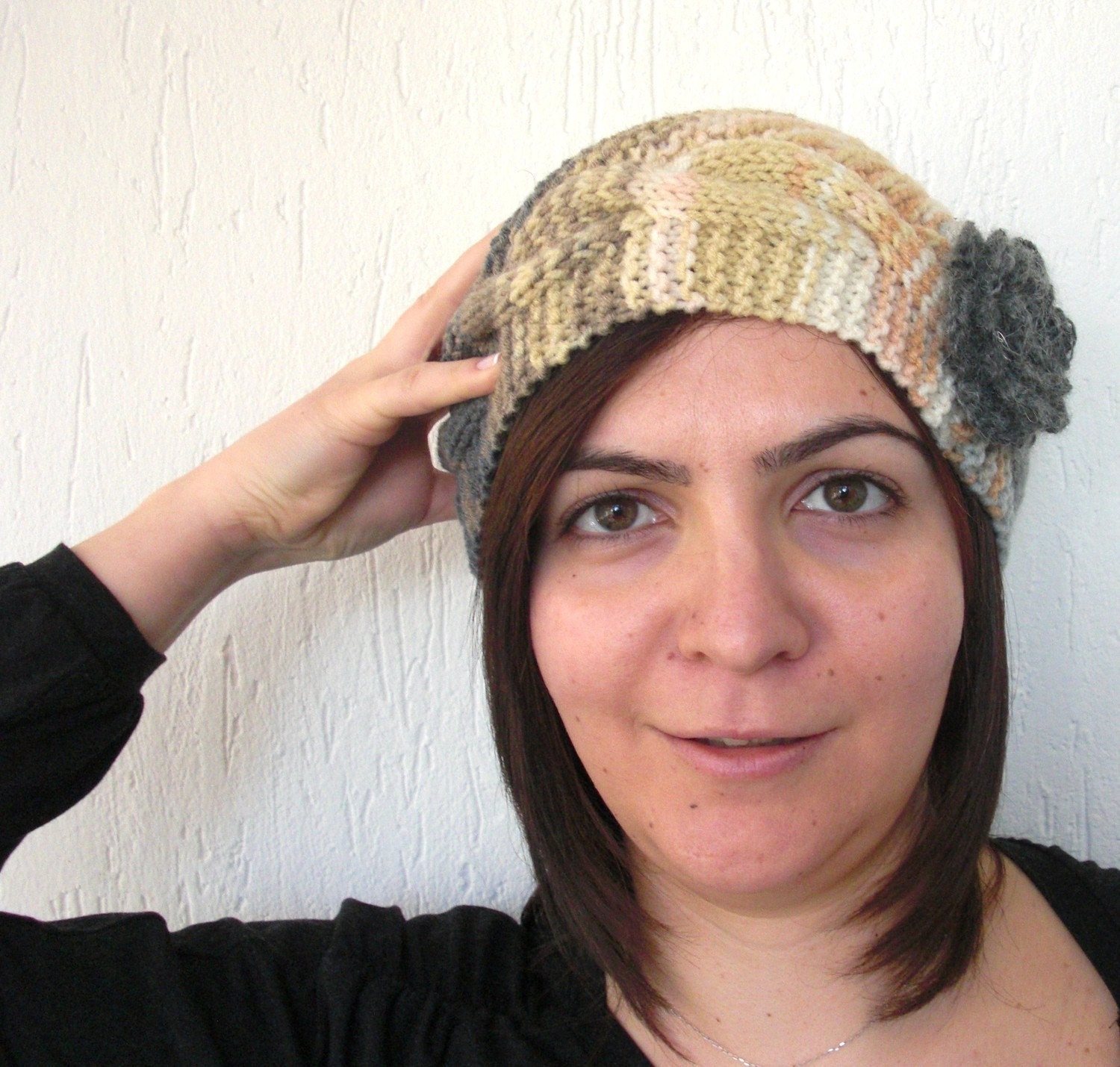 Victorian  Hat   Hand Knit  BERETWinter Accessories By by Ebruk from etsy.com