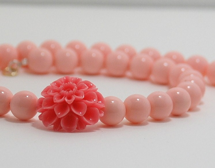 Sweet Majorca Salmon Pink  pearl   Cabochon by SevimsDesign from etsy.com