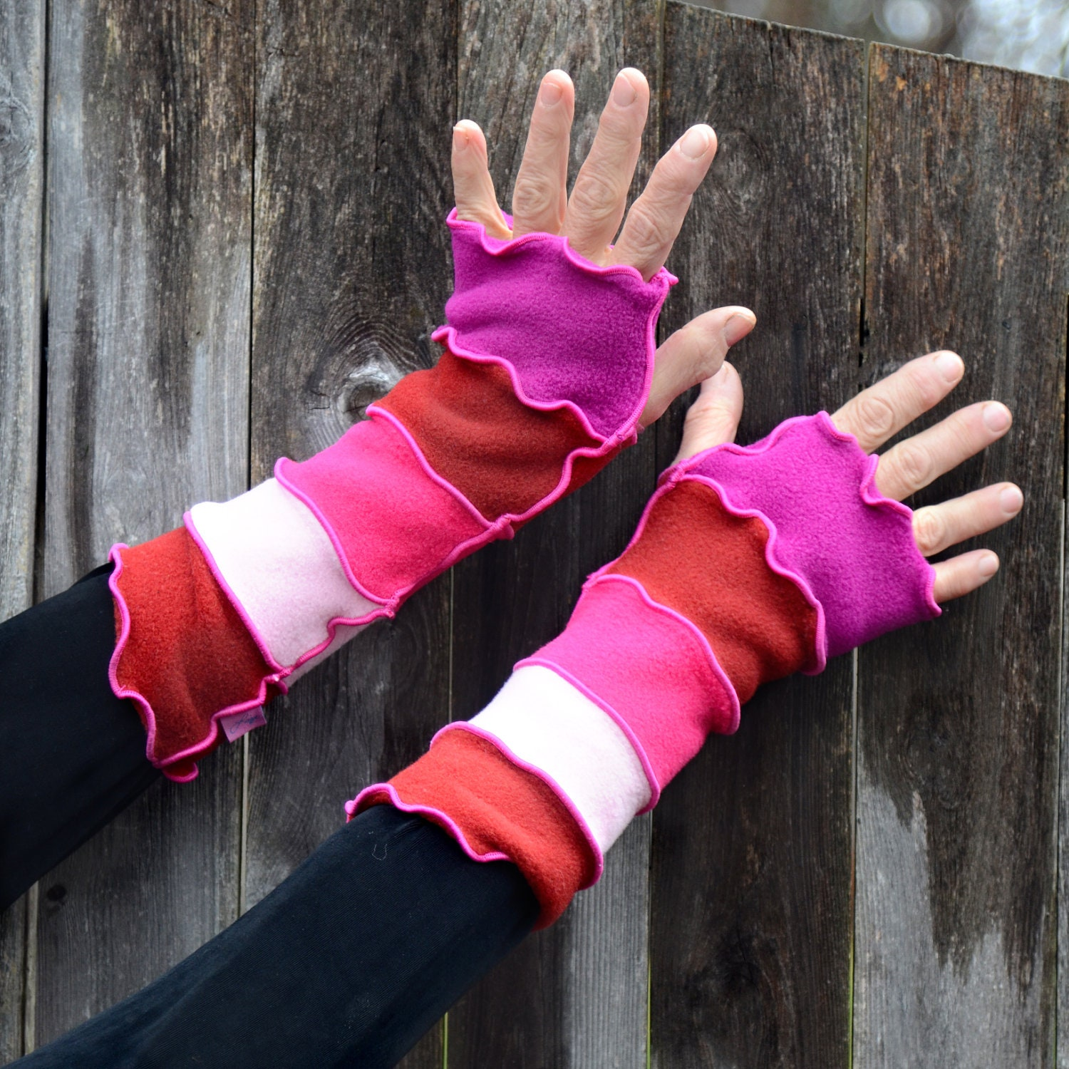 Hot Pink Arm Warmers - LizaJaneNorman