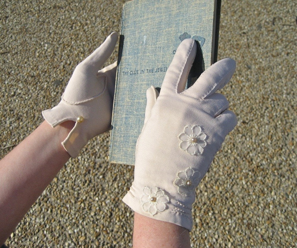 CUSTOM bridesmaids gloves - one-of-a-kind Fancy Hands altered vintage gloves to complement your wedding