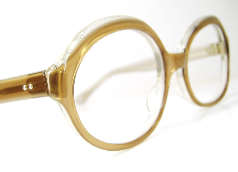 Vintage 60s Brown Eyeglasses Eyewear Frame France - VintageOpticalFrames