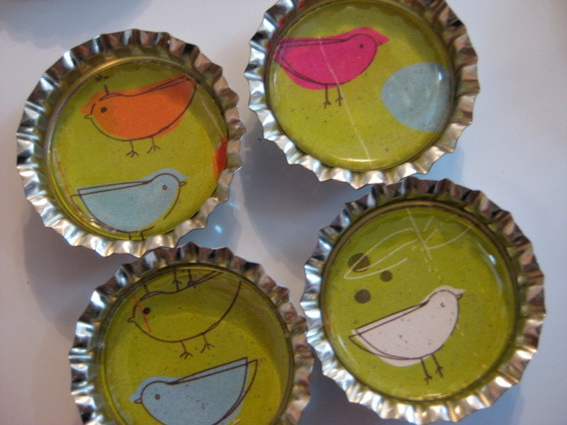 Flew Over the Cockoo's Nest Bottlecap Magnets - Set of 4