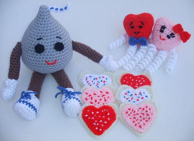 Crochet Patterns Valentines : Crochet Pattern Valentines Day Chocolate Kiss by CrochetVillage