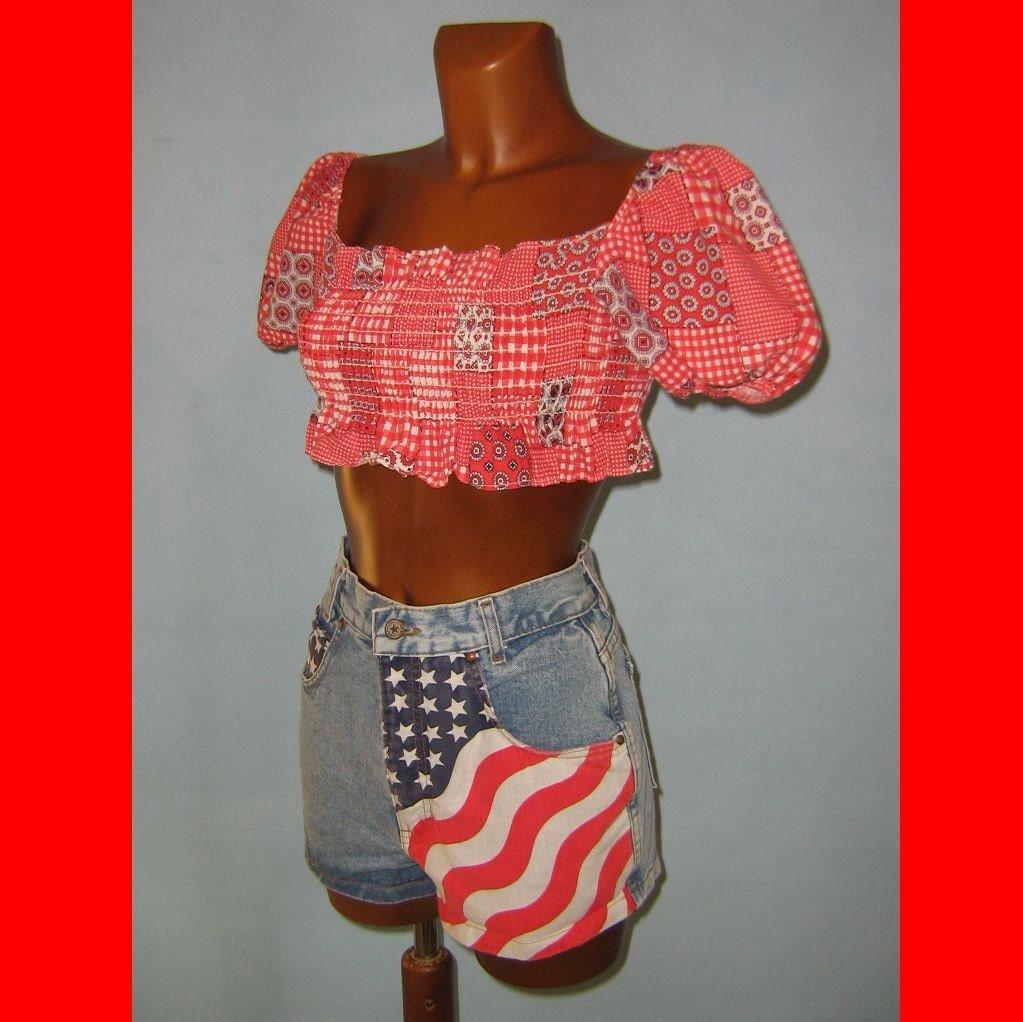 high waisted american flag shorts. american flag shorts denim.