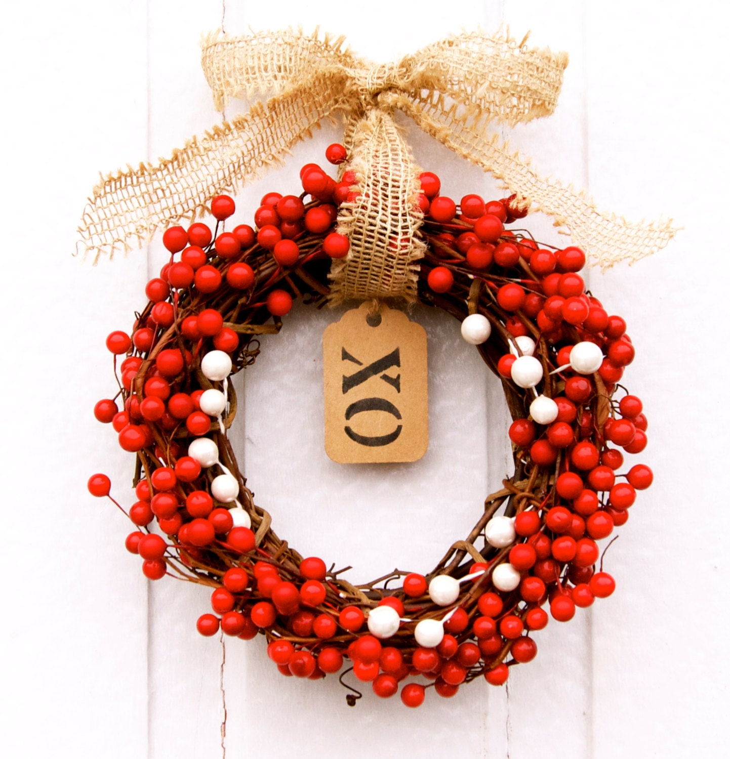 Valentine's Day Wreath-XO Weath-Seasonal Wreath-Holiday Wreath