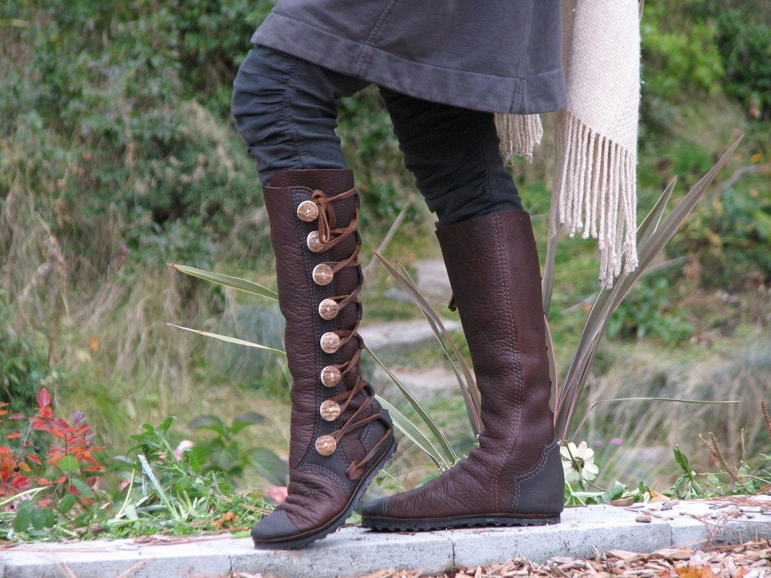 knee high s boots custom leather moccasin by