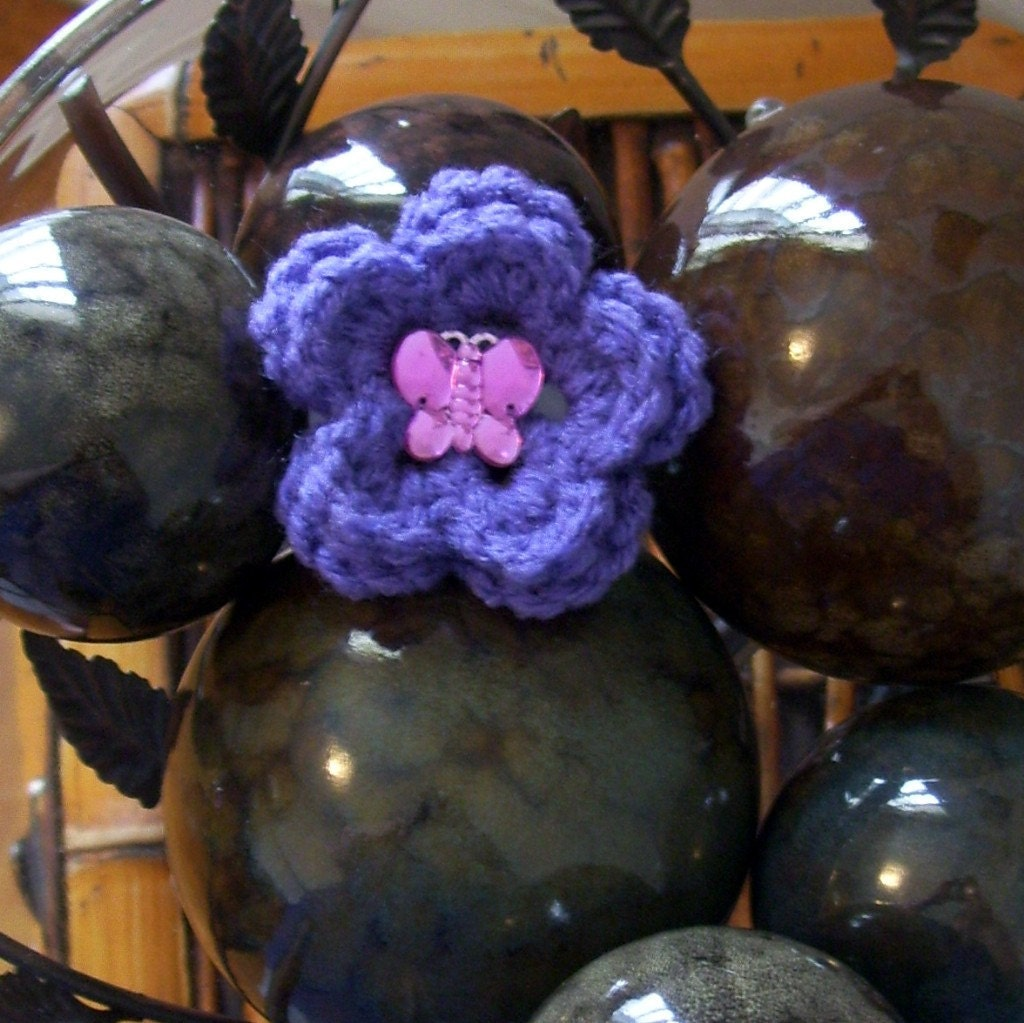 Purple Flower Child Barrette