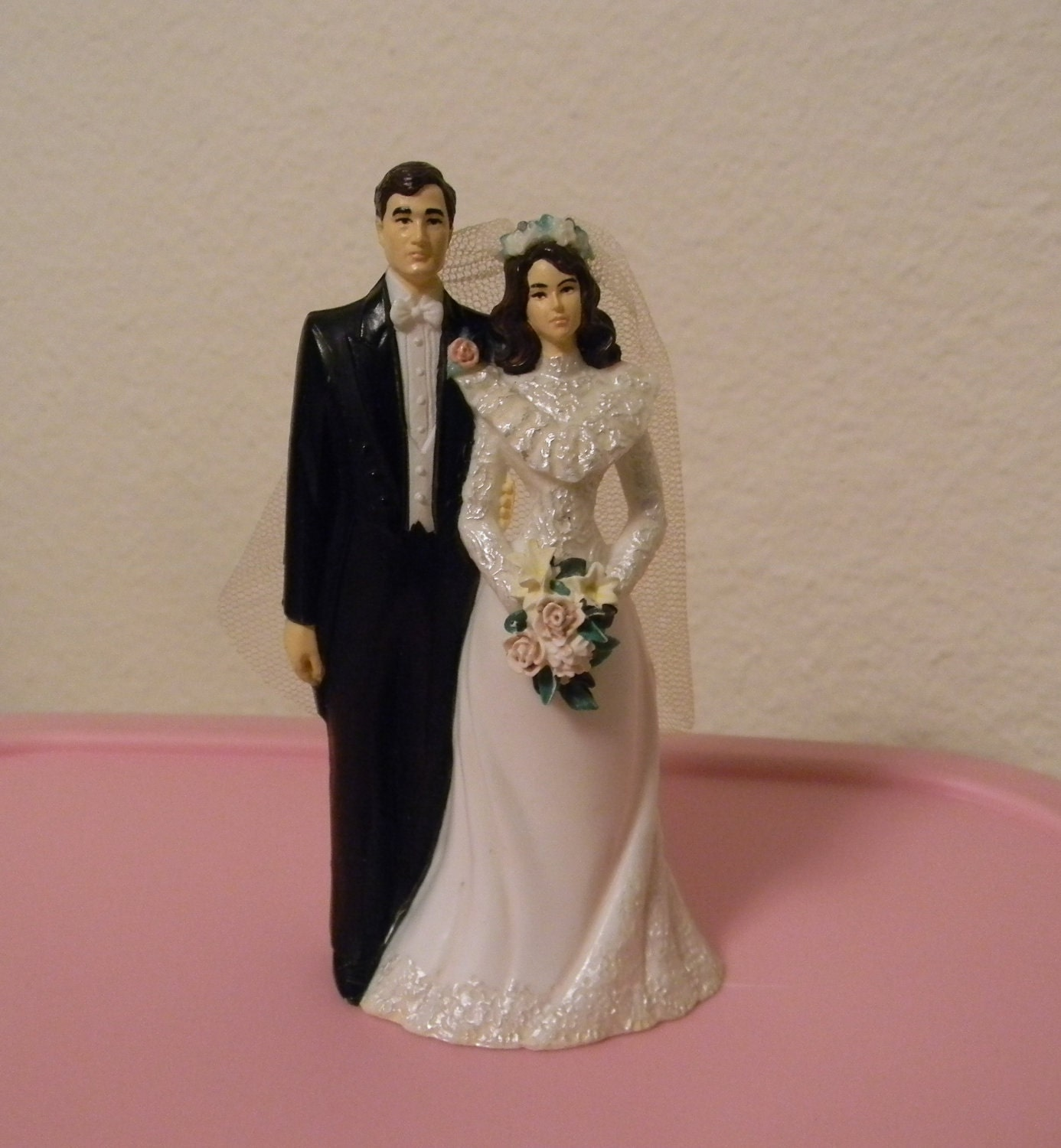 Vintage Bride And Groom Wilton Wedding Cake Topper By PinkJewel