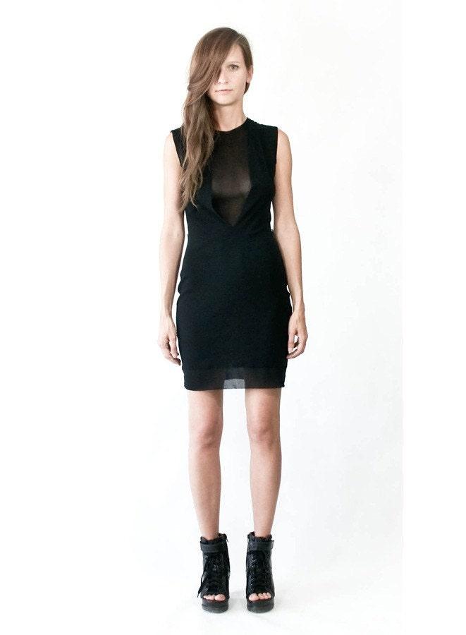 simple black mini dress