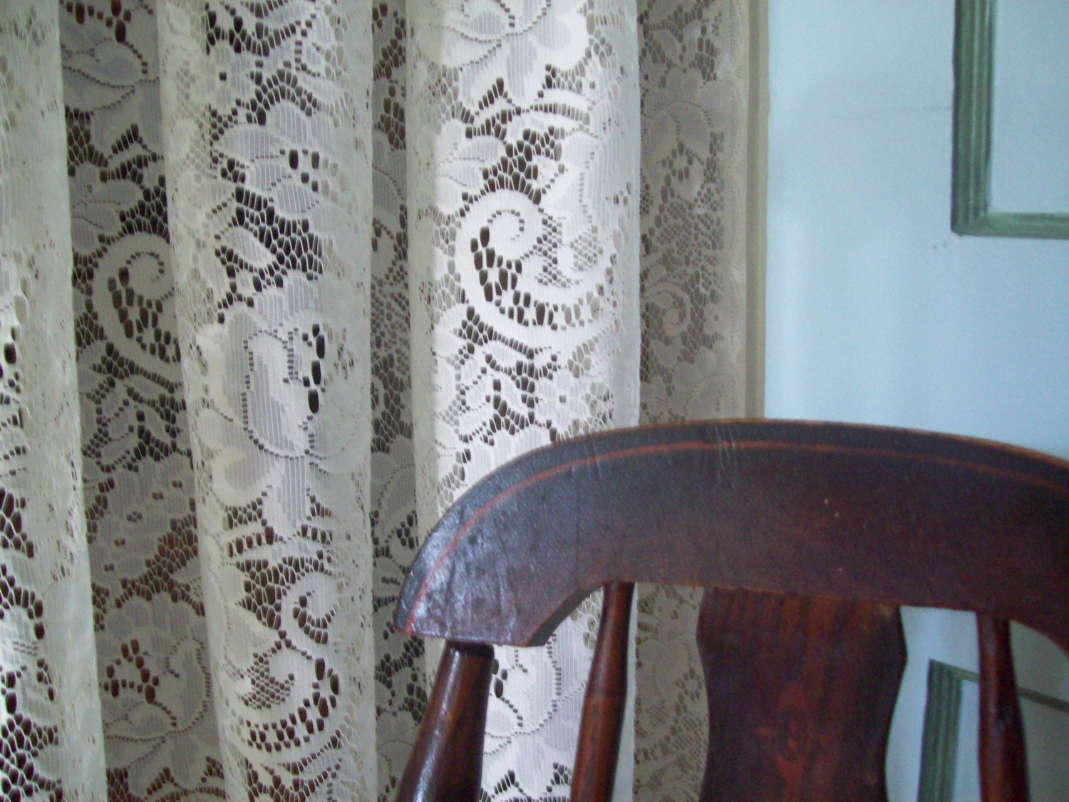 vintage lace curtains lace drapes lace panels by thegirlycottage