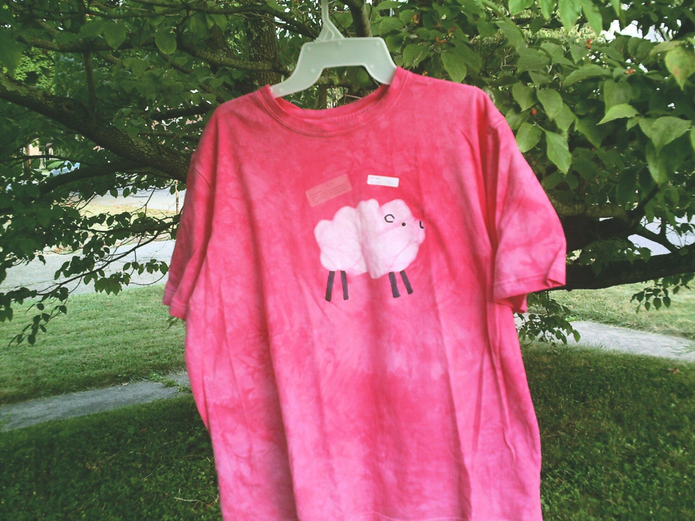 GOT WOOL unisex M pink batik tshirt