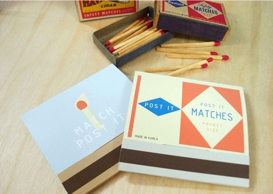 A Box of Matches Index Post It Sticky Note - match man (80sheets)