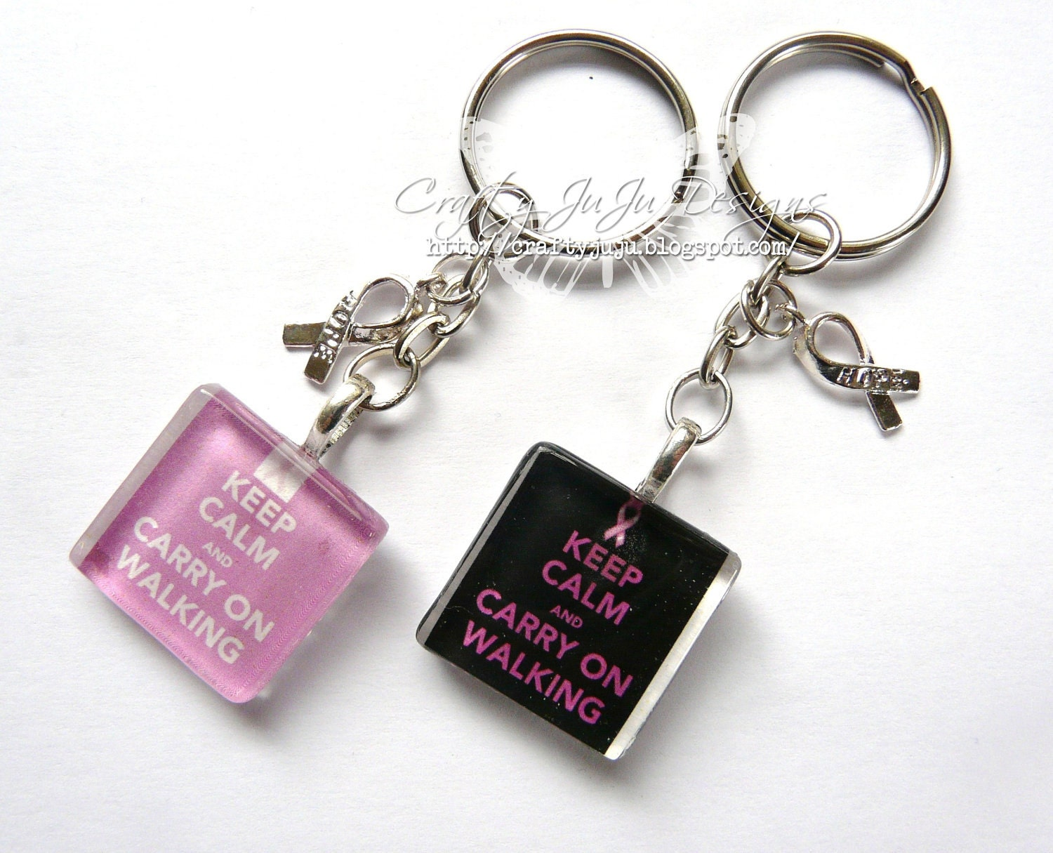 Keep Calm & Carry On Walking Keyring