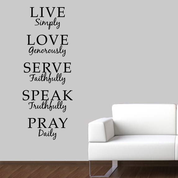 Live simply wall decal love generously by stephenedwardgraphic for Live simply wall art