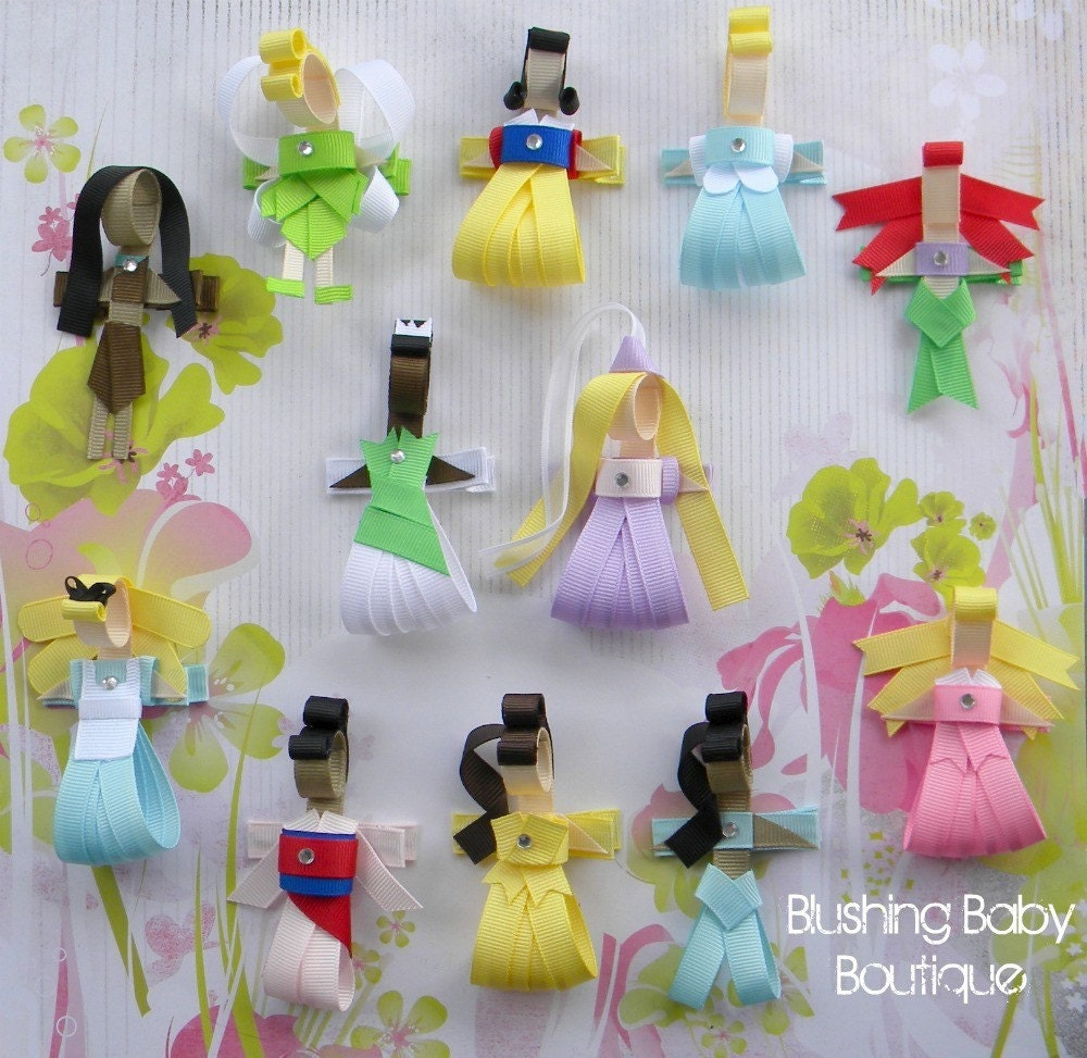 You Pick Five (5) Little Princess Clips --FREE SHIPPING to U.S. Only--