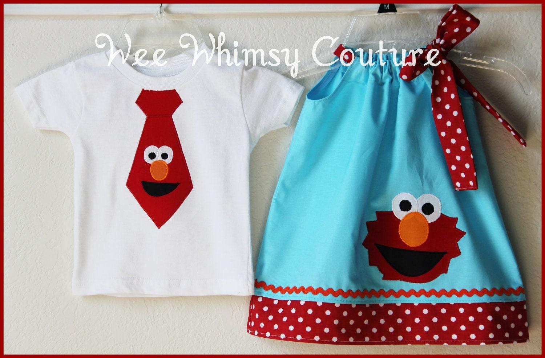 Elmo Dress & Shirt Set