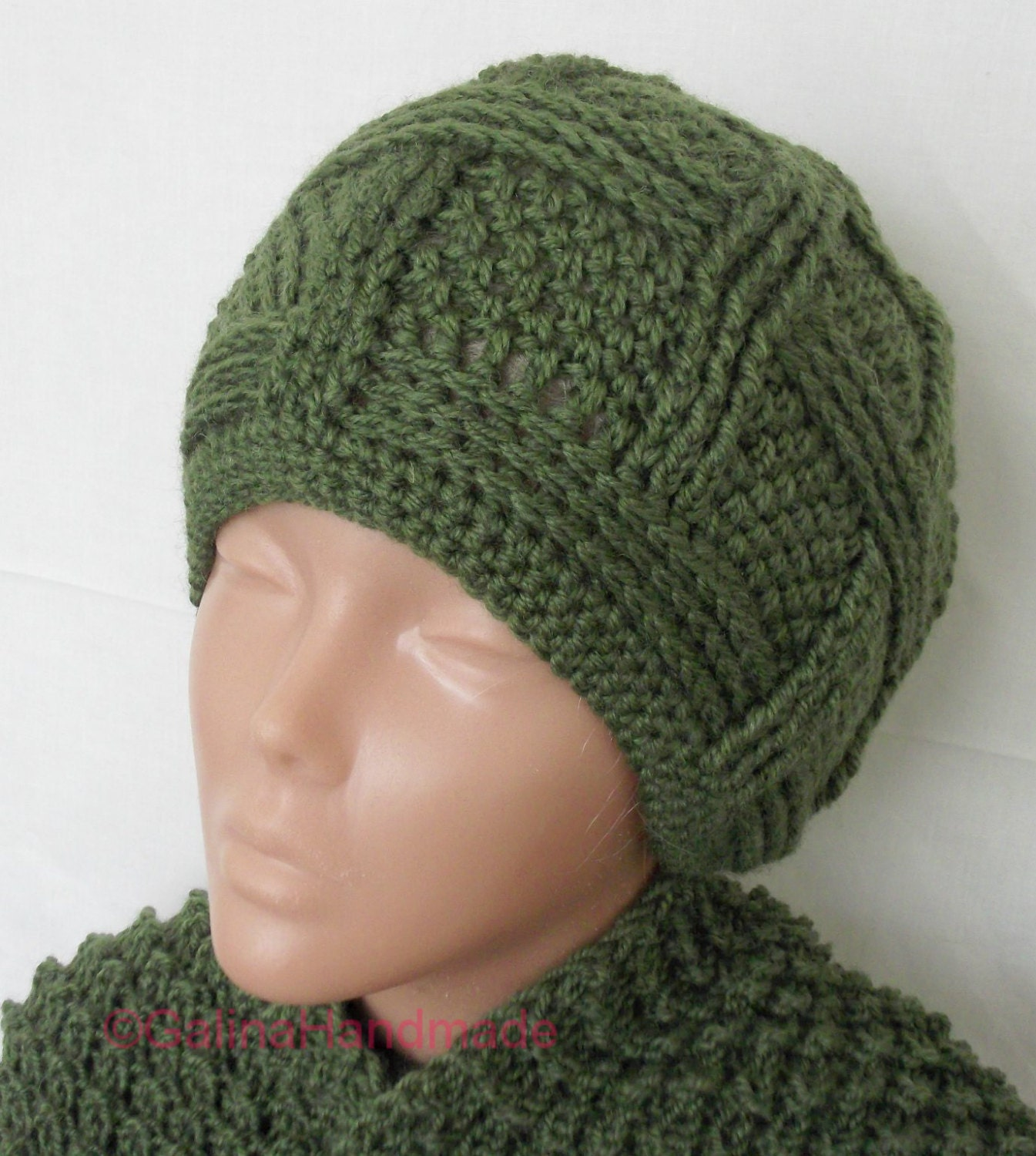 Mens Hat Crochet Pattern Chunky Yarn : Items similar to Slouchy Beanie Slouch Hats Oversized ...
