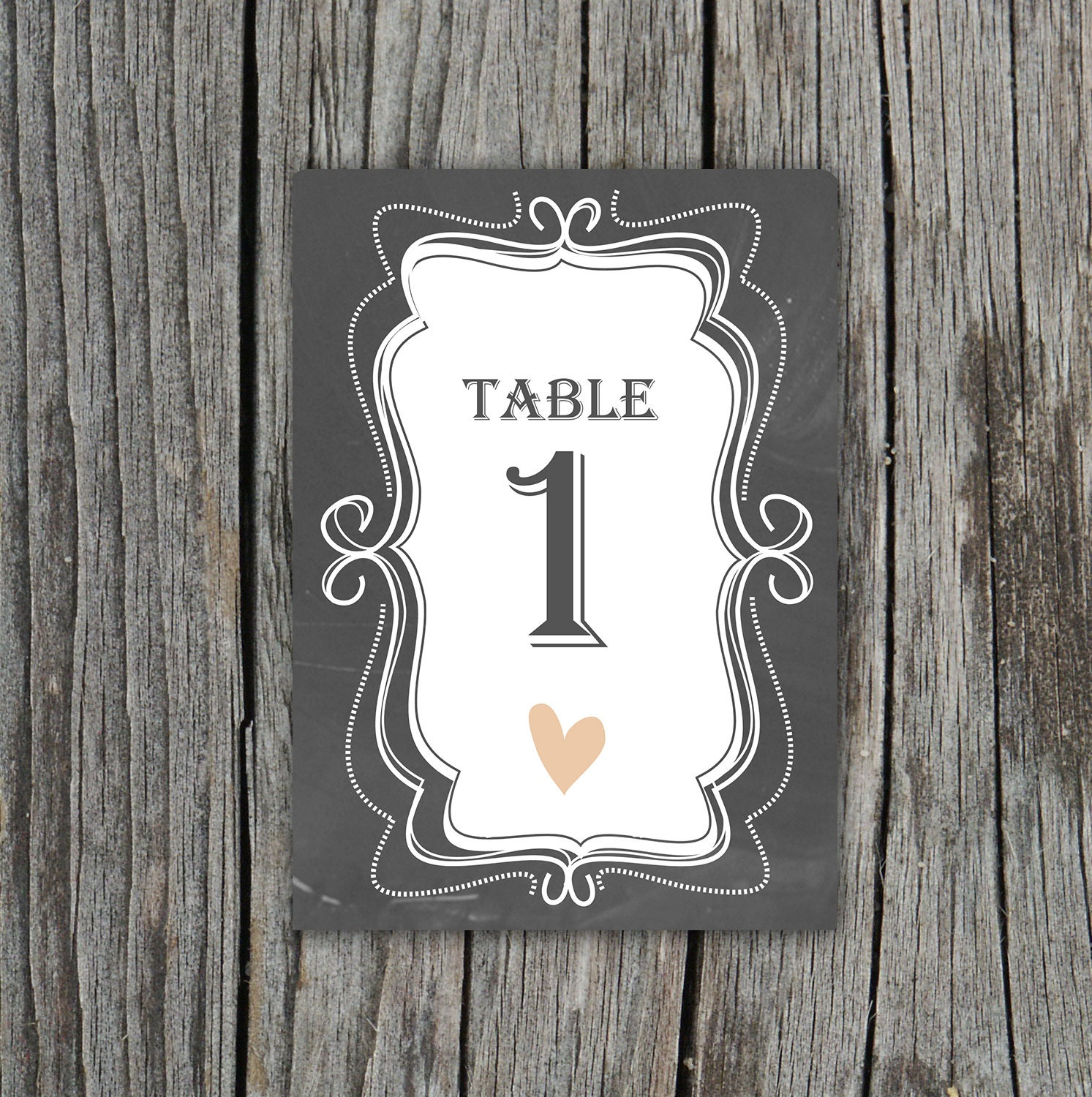 chalkboard table numbers ~ diy printable chalkboard table numbers by themunch on etsy