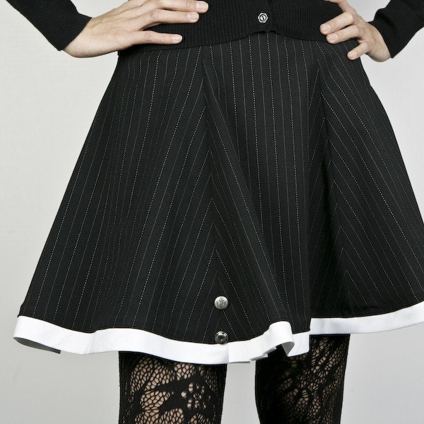 Curious Matilda Pinstripe Skirt ONLY ONE (size 31.75 inch waist)