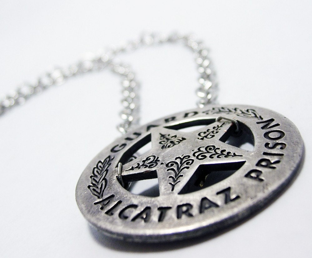 Prison Guard Necklace--Alcatraz