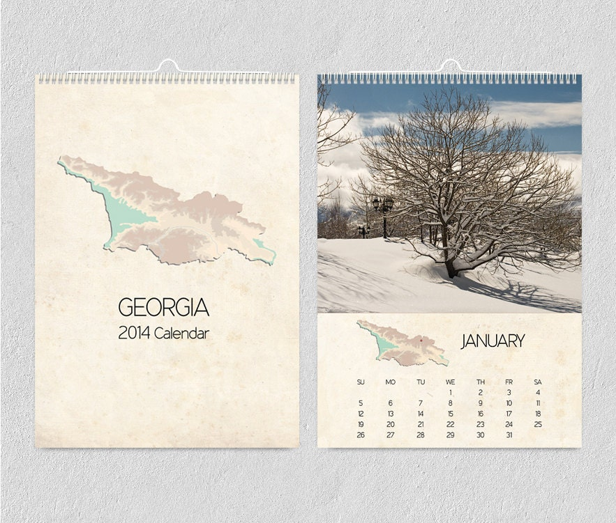 2014 Calendar A4, Wanderlust , Wall Calendar, Travel Photography, - PhotoNika