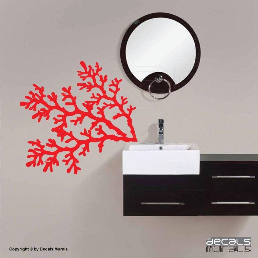 Wall Decals CORAL REEF BRANCHES Vinyl Removable By