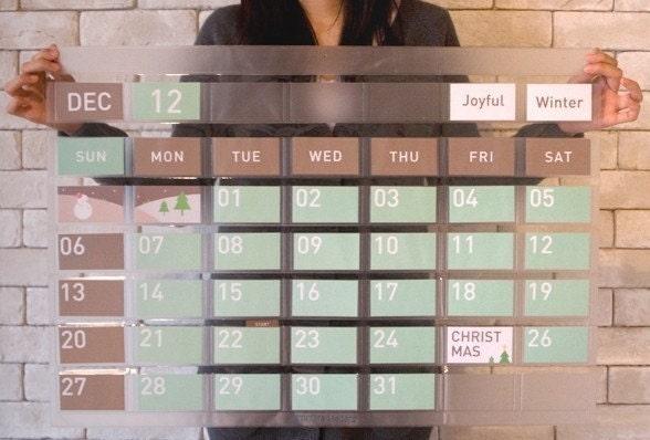Any Year Big Perpetual Calendar Wall - mintchoco