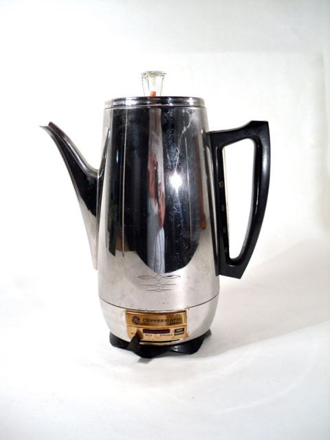 Electric Percolator Working Chrome Coffee Maker by perfectpatina