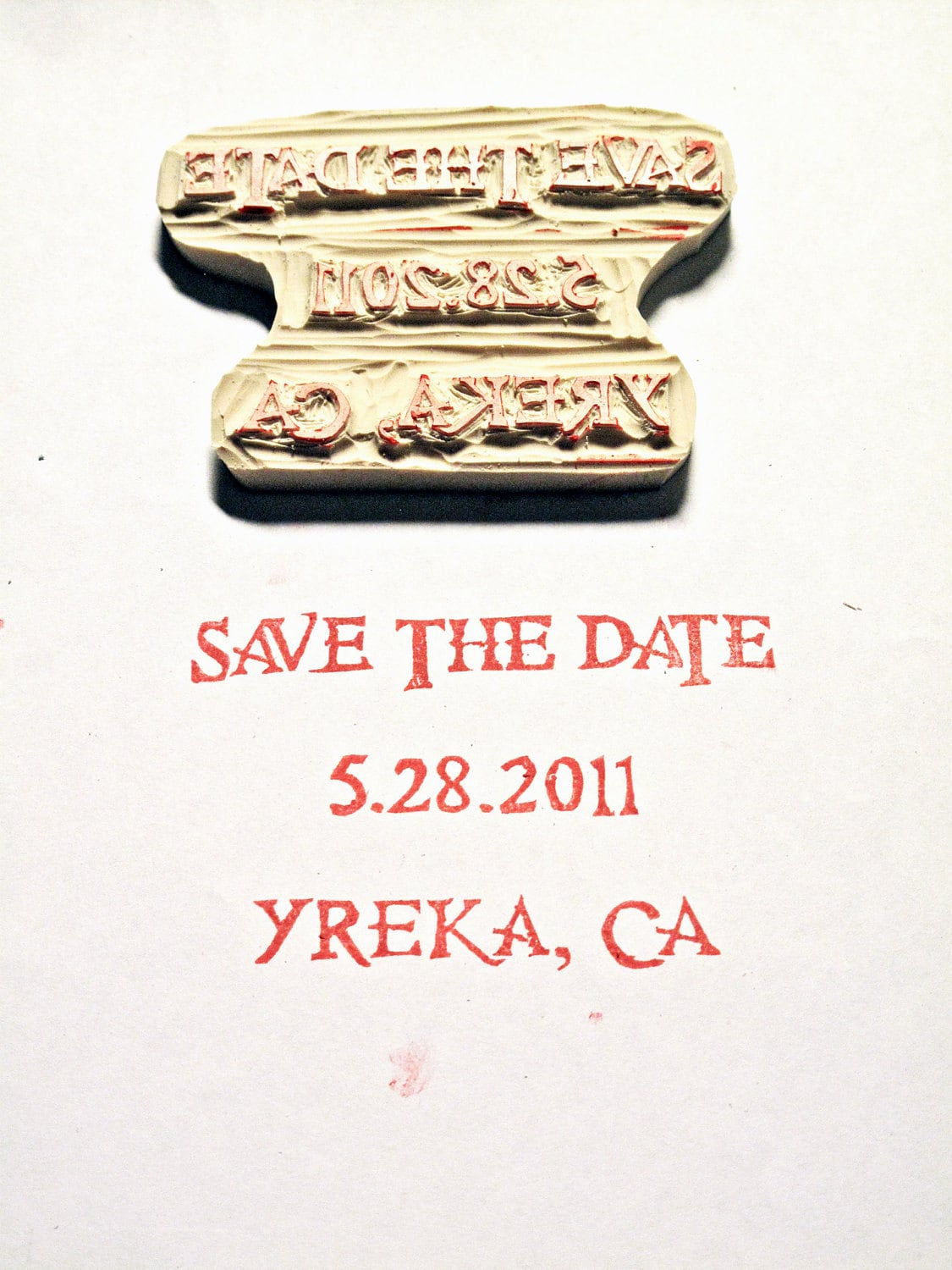 4-5 inch Hand-carved Rubber Stamp with Your Logo/Image