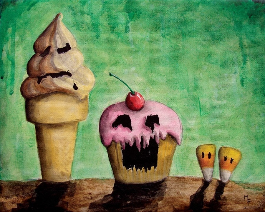 Those Evil Sweets 'n Treats 8x10 Art Print