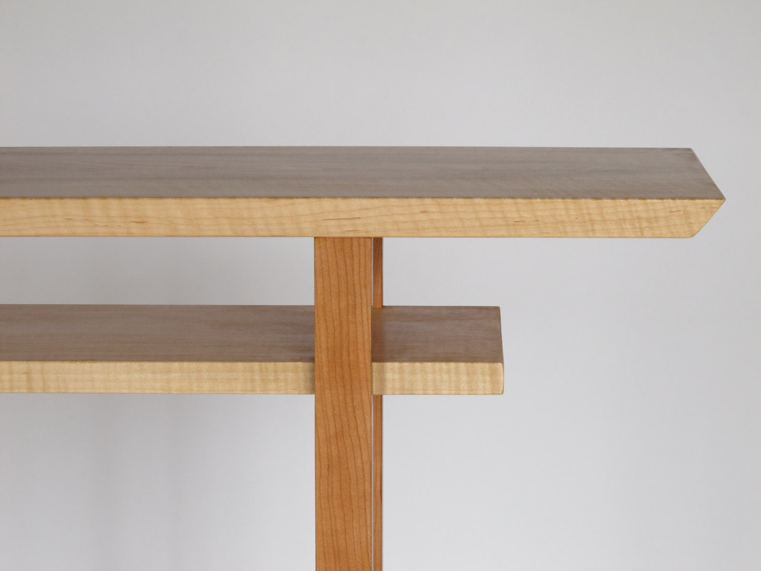 hall table narrow console table with shelf handmade wood. Black Bedroom Furniture Sets. Home Design Ideas