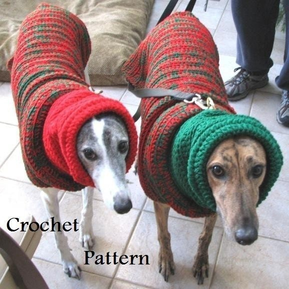 Items similar to PDF Crochet Pattern for Greyhound Sweater ...