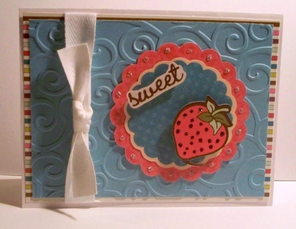 Sweet Strawberry Blank Card
