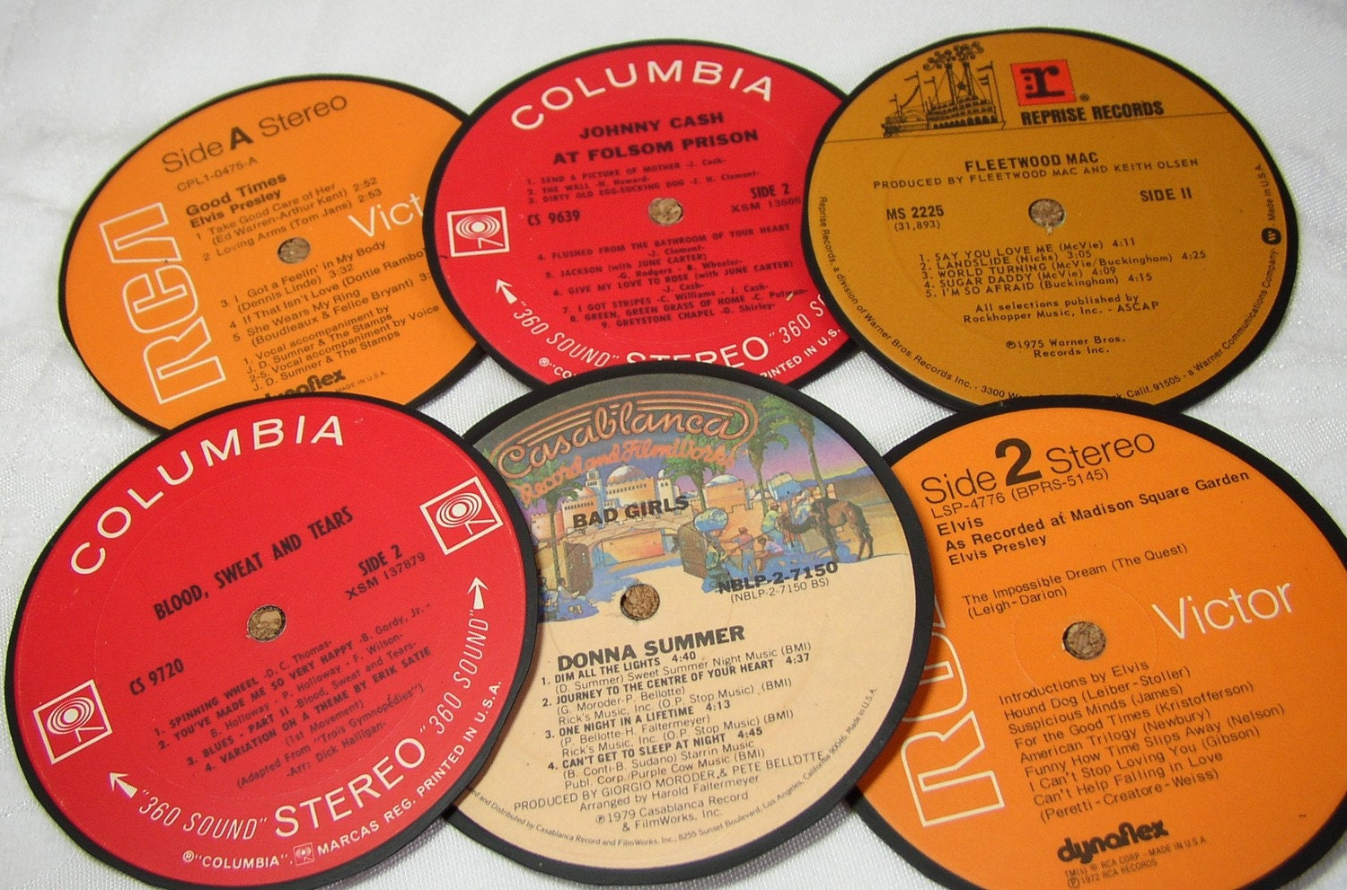 LP Coasters-Recycled Record-Set of Six, with gift box