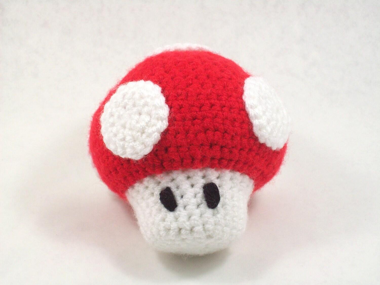 Amigurumi Pattern Mario Inspired Mushroom by quietnova on Etsy