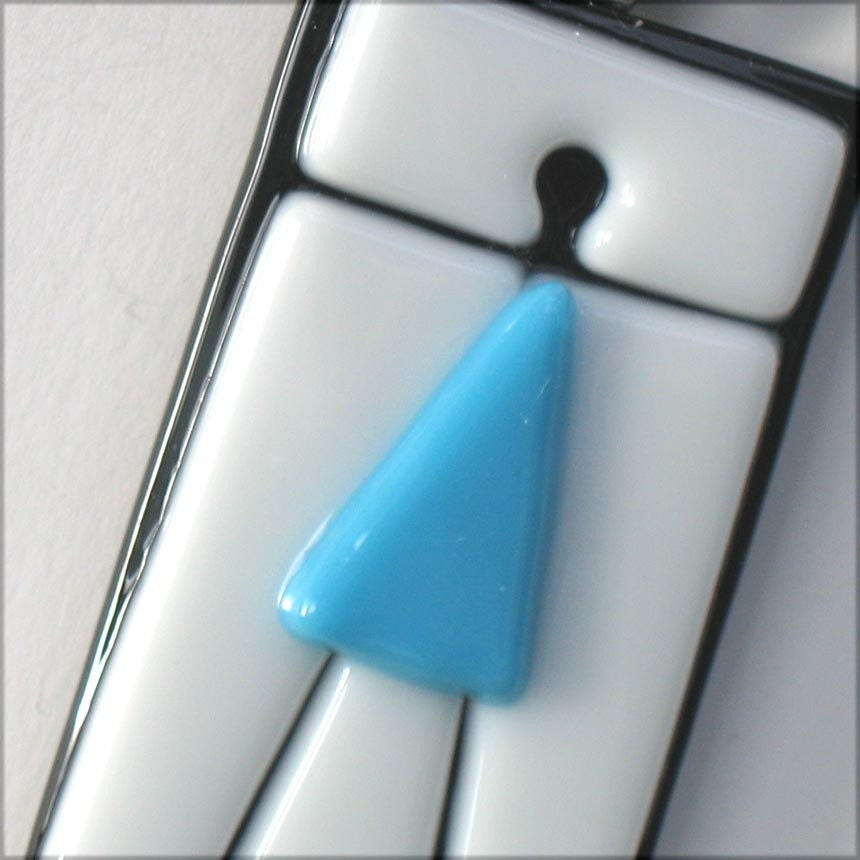 Girl Power Pendant - blue