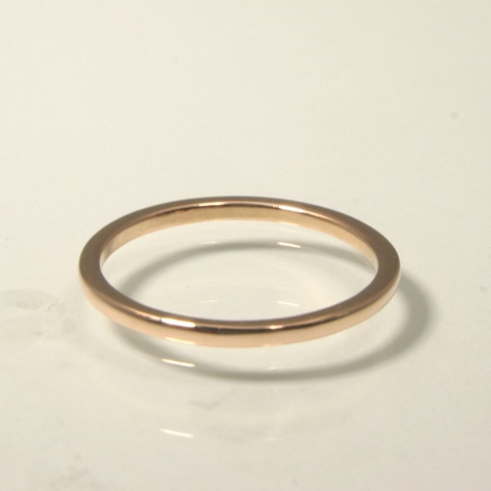 gold wedding band 1mm in 18k gold for by
