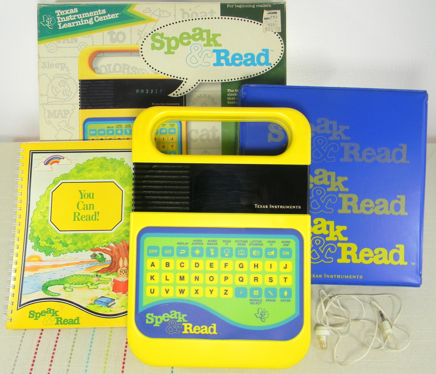 Speak and Read. Carry Case. Original Box.Booklet. Ear Phones.Texas Instruments.1980.Circuit Bending. FREE SHIPPING - LillysLuckyPenny