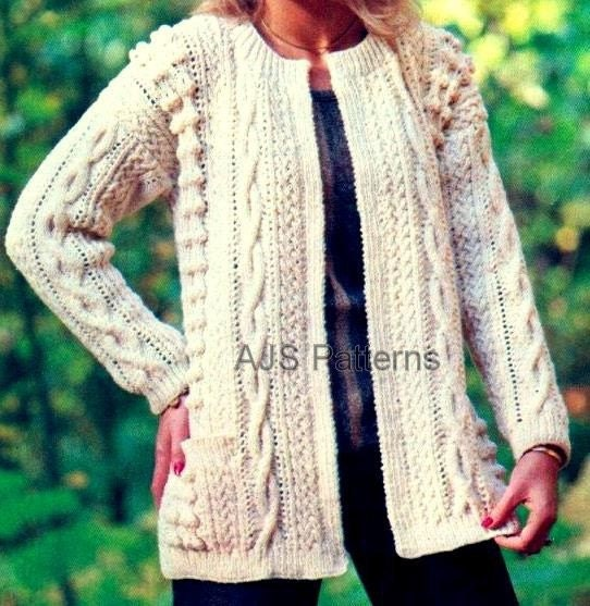 Designer Aran Knitting Patterns : PDF Knitting Pattern For Stylish Ladies Edge by TheKnittingSheep