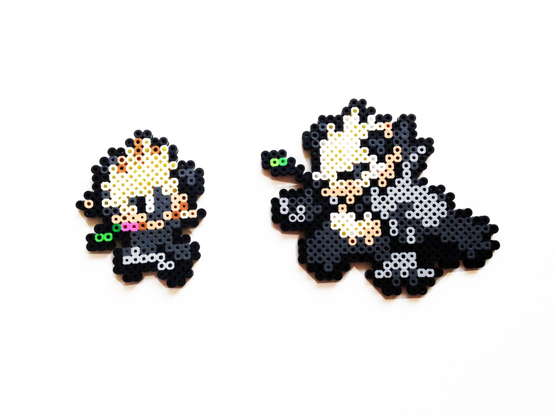Pokemon X And Y Perler Pancham Pangoro Choose By Showmeyourbits