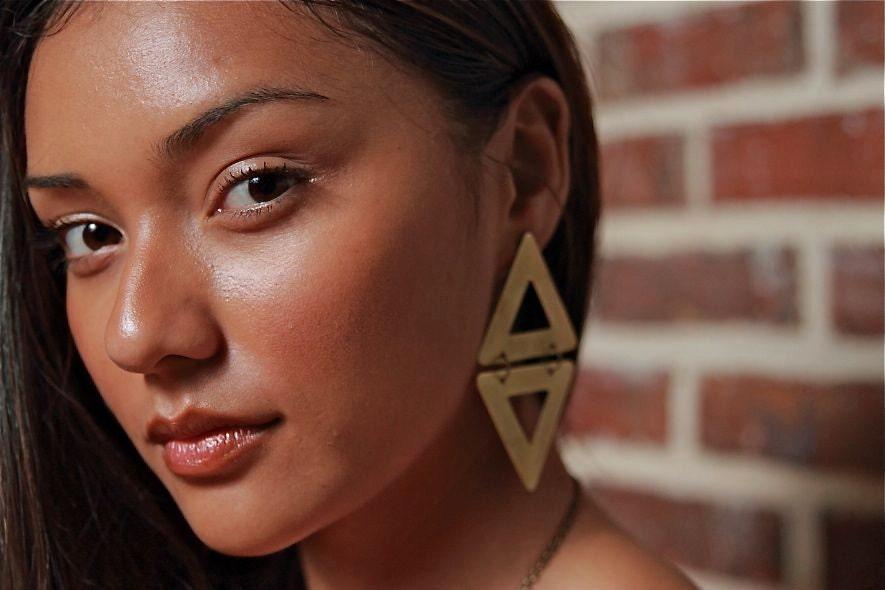 Sri Triangle Earrings