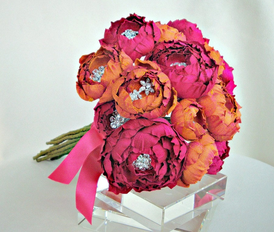 The Catala Bouquet silk flower bridal bouquet I 39ve just returned from the