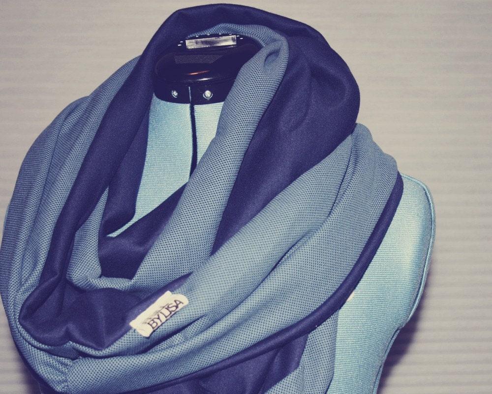 Blueberry Waffle (circle scarf)